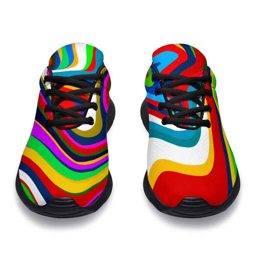 Abstract Ink Paint Running Shoes