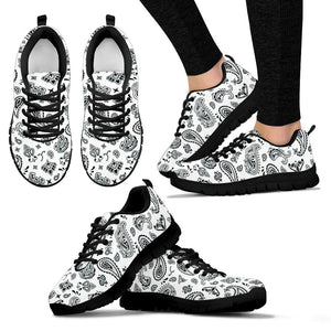 White Bandana Sneakers