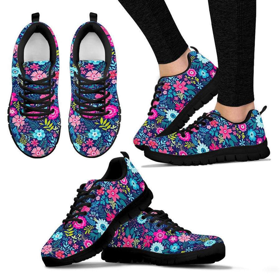 Cute Flower Floral Print Sneakers