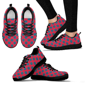Red And Blue Polka Dot Sneakers