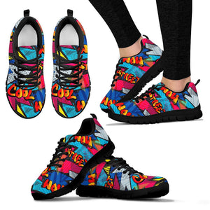 Abstract Graffiti Wow Print Sneakers