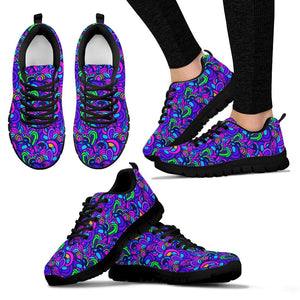 Blue Psychedelic Sneakers