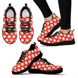 Red And White Polka Dot Sneakers
