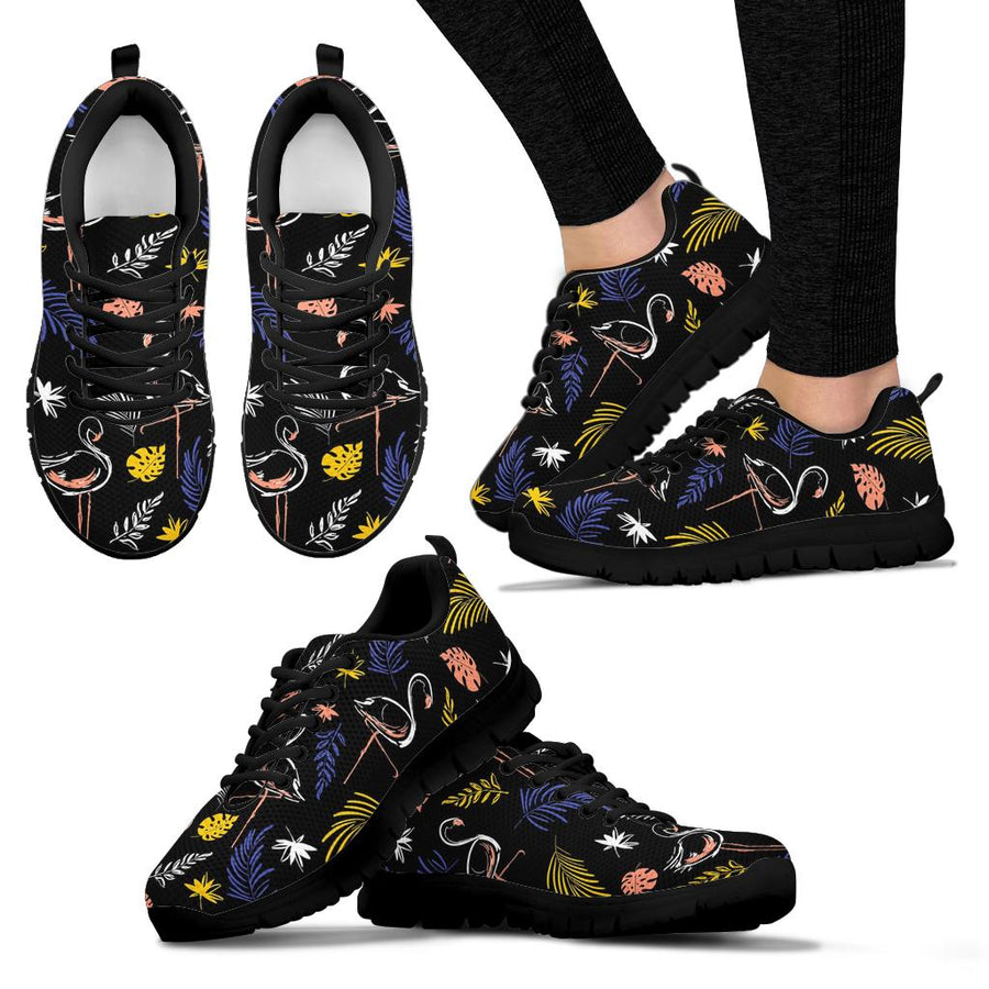 Tropical Flamingo Print Sneakers