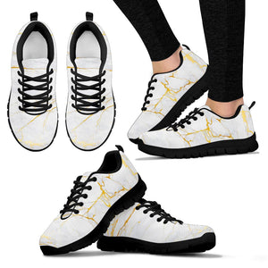 White Gold Marble Sneakers