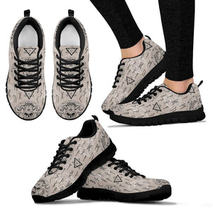 Satanic Devil Gothic Witch Sneakers