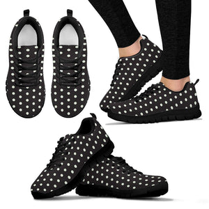 Black And White Polka Dot Sneakers