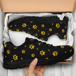 Gold  Footprint Paw Sneakers