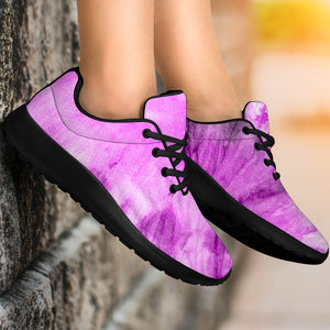 Black And Purple Tie Dye Running Shoes
