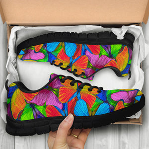 Multicolor Butterfly Print Sneakers