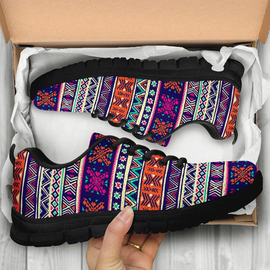 Multicolor Native Aztec Geometric Hipster Sneakers