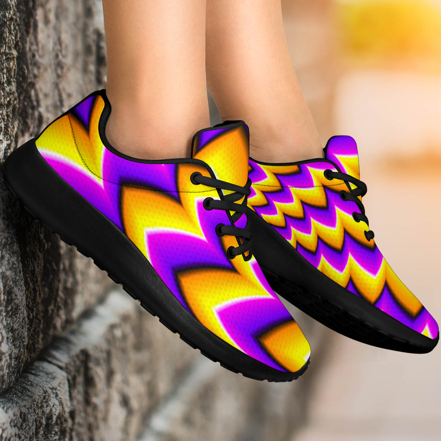 Abstract Optical illusion Running Shoes