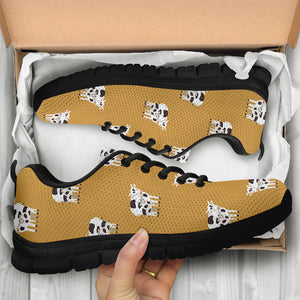 Cow Family Print Sneakers