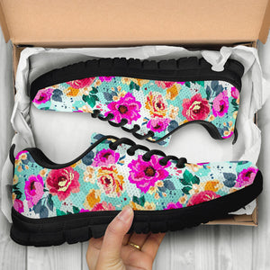 Colorful Rose Floral Sneakers