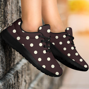 Black And White Tiniy Polka Dot Running Shoes