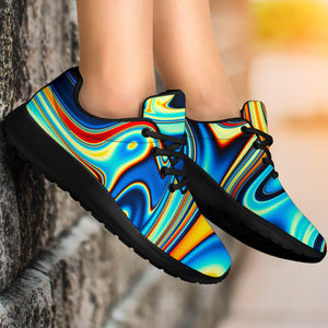 Abstract Wavy Psychedelic Running Shoes