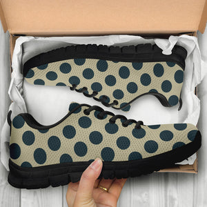 Cream And Black Polka Dot Sneakers