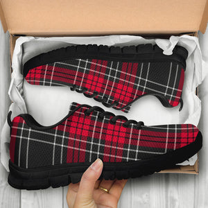 Christmas Red Plaid Scottish Sneakers