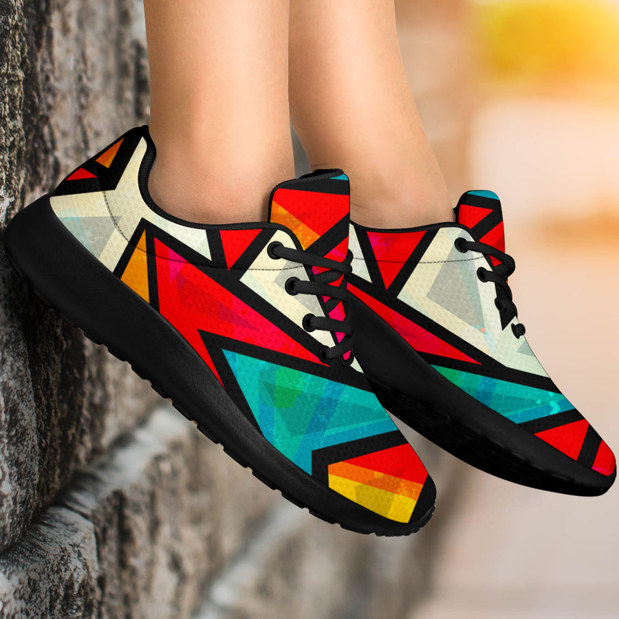 Abstract Geometric Coloful Running Shoes
