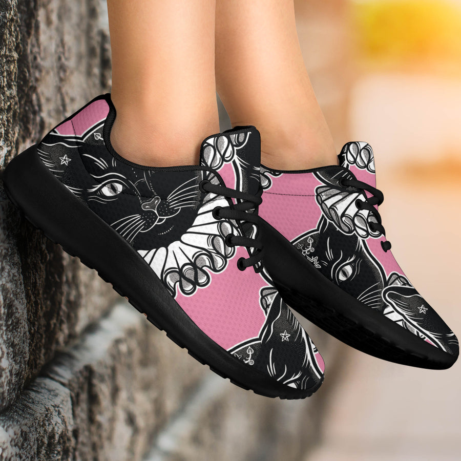 Black Cat Gothic Running Shoes