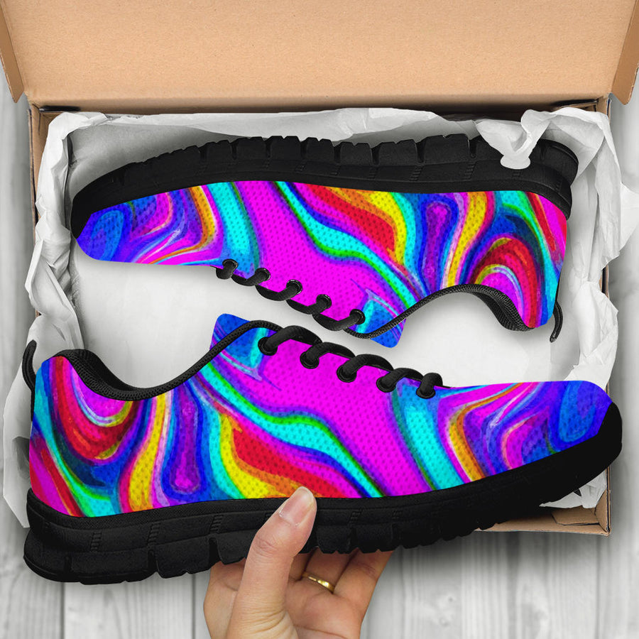 Abstract Purple Iridescent Sneakers