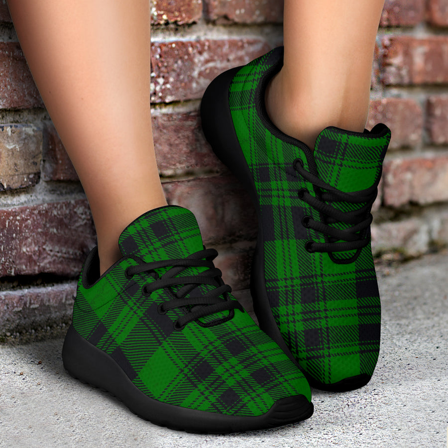 Green Plaid Tartan Sottish Running Shoes