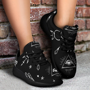 Black Gothic Witch Running Shoes