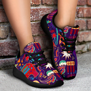 Aztec Psychedelic Trippy Running Shoes