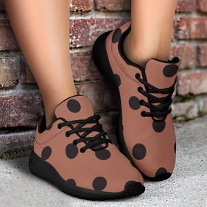 Brown And Black Polka Dot Running Shoes