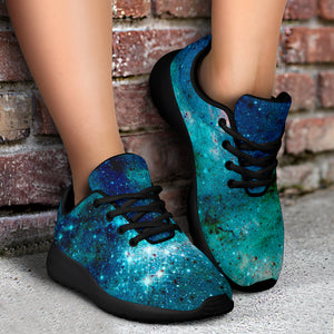 Blue Galaxy Space Running Shoes