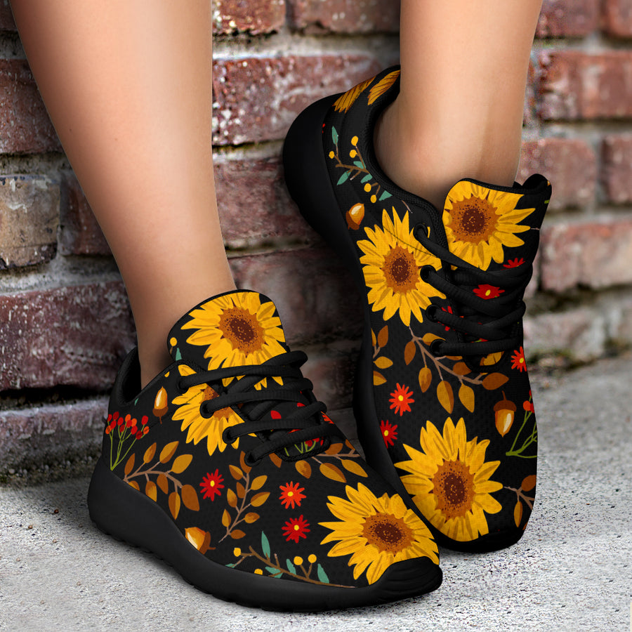 Autumn Sunflower Running Shoes