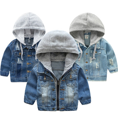 Baby Boys Winter jeans Jacket - Labellabambino