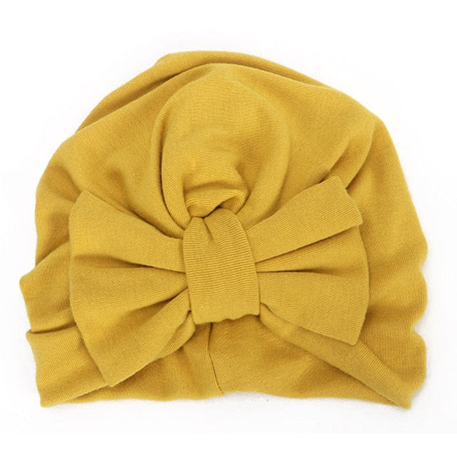 Winter Autumn Big Bow Cotton Wool Knitted Thick Warm Hat - Labellabambino