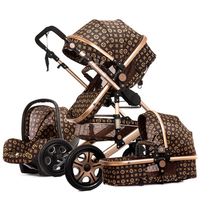 Luxury baby stroller 3 in 1 High Shock Absorber - Labellabambino