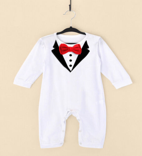 Baby Boy Bow Tie Gentleman Jumpsuit - Labellabambino