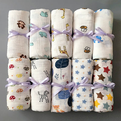 Baby Swaddles Soft Newborn Blankets 1Pc Muslin 100% Cotton - Labellabambino