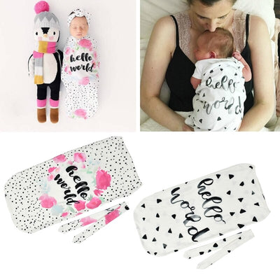 2 Pcs Infant Newborn Toddler Swaddle Blanket - Labellabambino