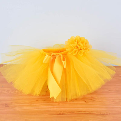 Yellow Baby Girls Fluffy Tutu Skirt & Headband - Labellabambino
