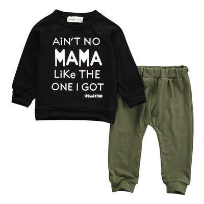 Long Sleeve Mama Sweatshirt Top+Pants - Labellabambino