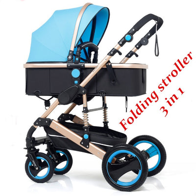 Folding Baby Stroller 3 in 1 Neonatal Baby Carriage Shock Absorption - Labellabambino