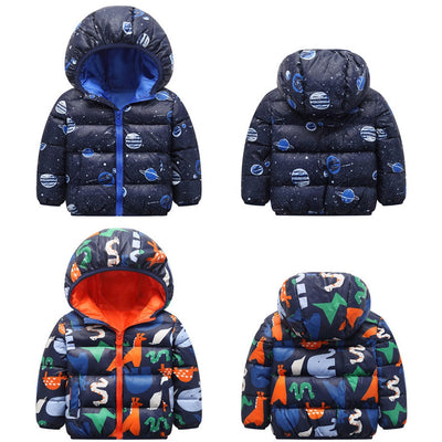 Kids Cartoon Animal Hooded Coat - Labellabambino
