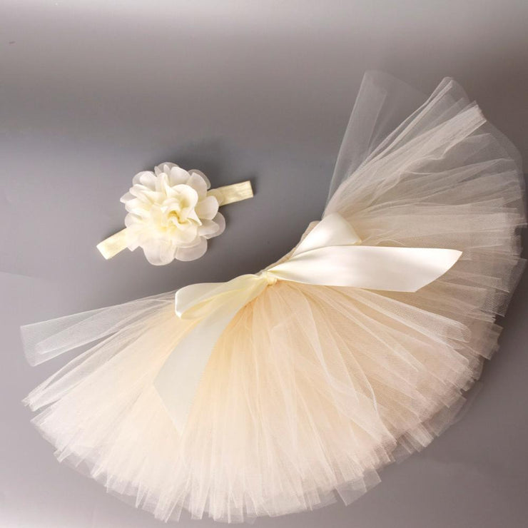 Newborn Solid Baby Girls Fluffy Tutu Skirt - Labellabambino