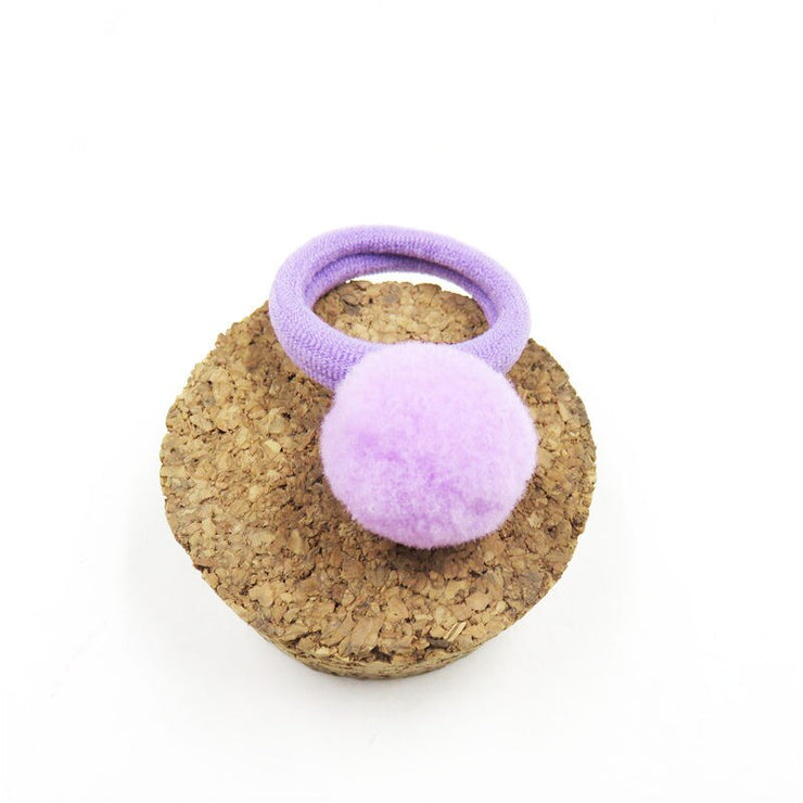 Handmade Lovely Solid Small Ball Hair Ring For Girls 10PCS/Pack - Labellabambino