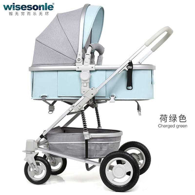 Folding Shock Absorber Stroller - Labellabambino