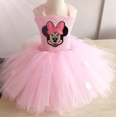 Lovely Girl Pink Cartoon Tutu Dress - Labellabambino