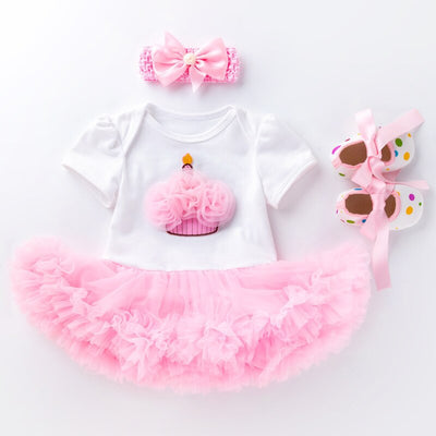 Baby bodysuit tutu shoes sets - Labellabambino