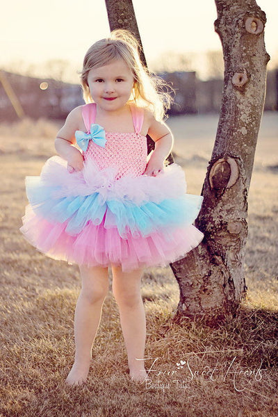Multicolor Girls 3Layers Cake Tutu Dresses - Labellabambino
