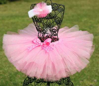 1-9Y Girls Pink Tutu Skirt - Labellabambino