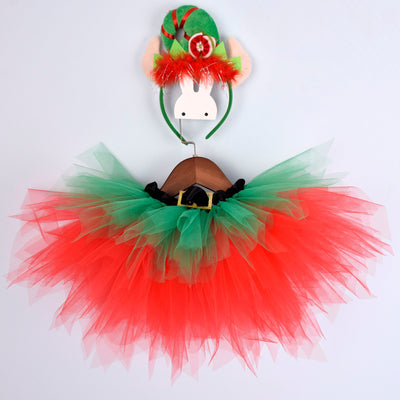 Christmas Baby Girls Tutu Elf - Labellabambino