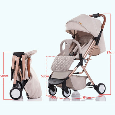 Baby 4 Wheels Stroller Plane Lightweight - Labellabambino